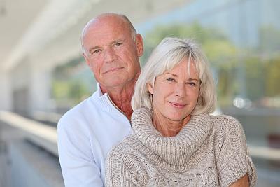 Älteres Paar mit privater Altersvorsorge